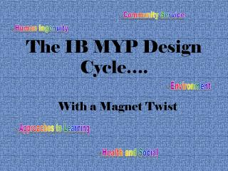 The IB MYP Design Cycle�.