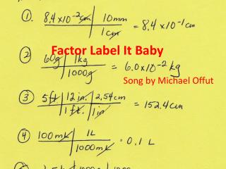Factor Label It Baby