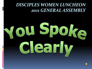 Disciples Women Luncheon 2011  General Assembly