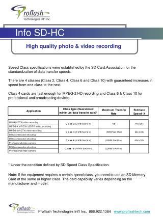 Info SD-HC