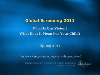 Global Screening 2011