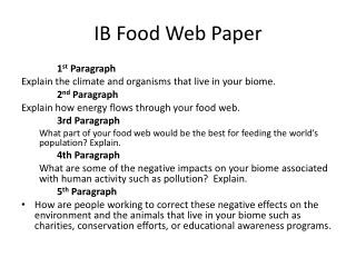 IB Food Web Paper