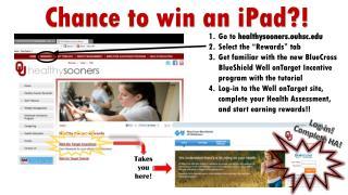 Chance to win an iPad?!