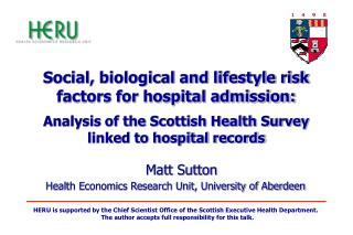 Social, biological and lifestyle risk factors for hospital admission:   Analysis of the Scottish Health Survey linked to
