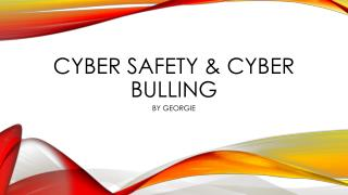 Cyber safety & cyber bulling