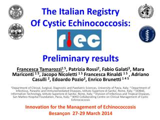 Innovation for the Management of  Echinococcosis Besançon   27-29 March 2014