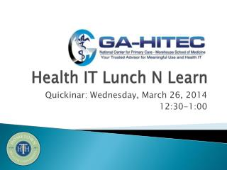 Health IT Lunch N Learn