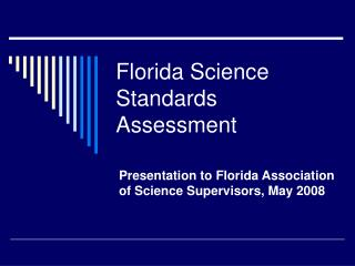 Florida Science Standards Assessment
