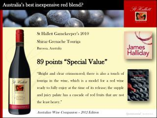 Australia's best inexpensive red blend?