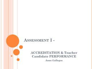 Assessment I -