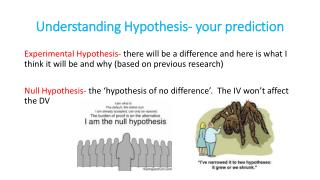Understanding Hypothesis- your prediction