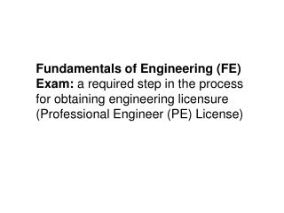 Engineering licensure - what is it? Licensure…