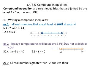 Ch. 3.5  Compound Inequalities