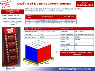 Devil's Food & Country Cherry  Floorstand
