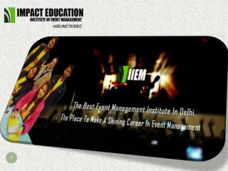 Diploma in Event Management