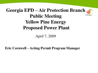 Eric Cornwell – Acting Permit Program Manager