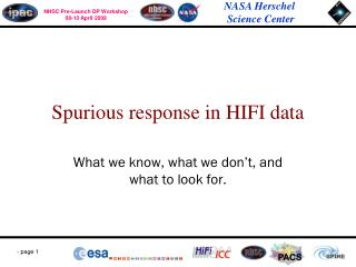Spurious response in HIFI data
