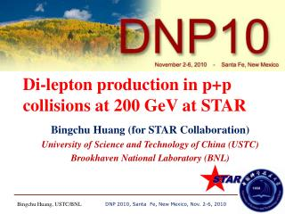 Di-lepton production in  p+p  collisions at 200  GeV  at STAR
