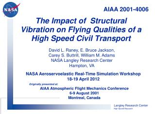 The Impact of  Structural Vibration on Flying Qualities of a High Speed Civil Transport