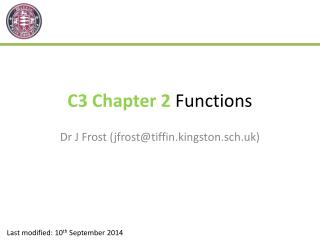 C3 Chapter 2  Functions