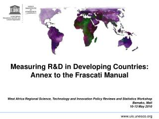 Measuring R&D in Developing Countries:  Annex to the Frascati Manual