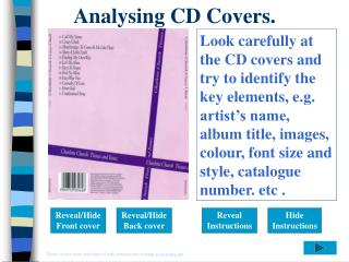 Analysing CD Covers.