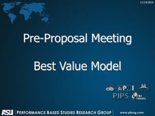 Pre-Proposal Meeting Best Value Model