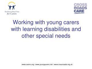 Working with young carers with learning disabilities and other special needs