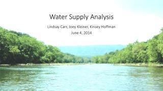 Water Supply Analysis