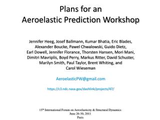 Plans for an  Aeroelastic Prediction Workshop