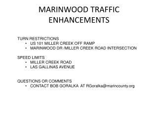 MARINWOOD TRAFFIC ENHANCEMENTS
