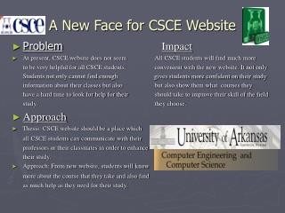 A New Face for CSCE Website