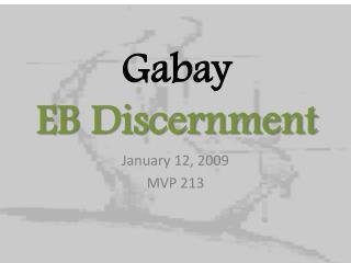 Gabay EB Discernment