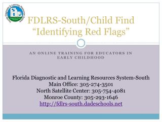 "FDLRS-South/Child Find ""Identifying Red Flags"""