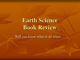 Earth Science Book Review
