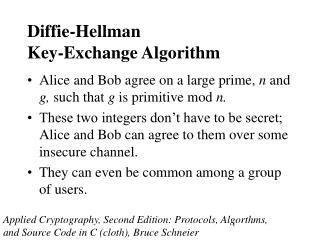Diffie-Hellman Key-Exchange Algorithm