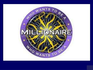 MILLIONAIRE SCOREBOARD