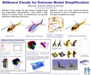 Billboard Clouds for Extreme Model Simplification Décoret, Durand, Sillion & Dorsey