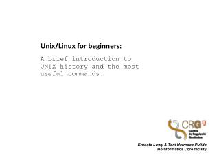 Unix/Linux for  beginners :