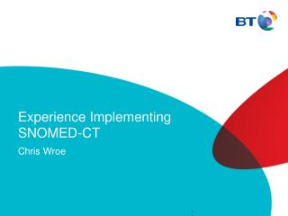 Experience Implementing SNOMED-CT