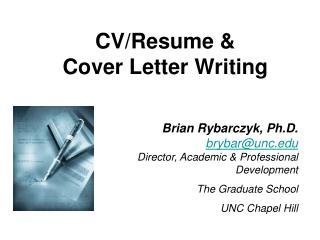 CV/Resume &  Cover Letter Writing