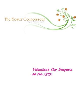 Valentine's Day Bouquets  14 Feb 2012