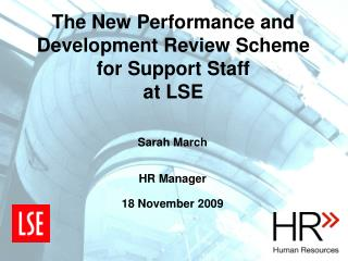The New Performance and Development Review Scheme for Support Staff at LSE