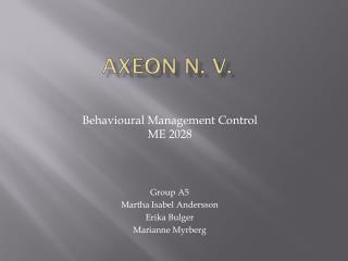 Axeon  N. V.
