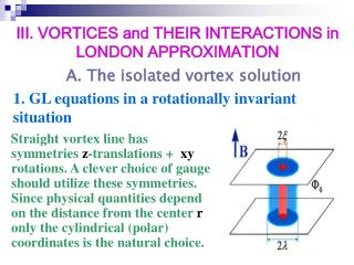 1. GL equations in a rotationally invariant situation