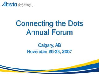 Connecting the Dots Annual Forum