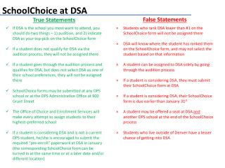 SchoolChoice  at DSA