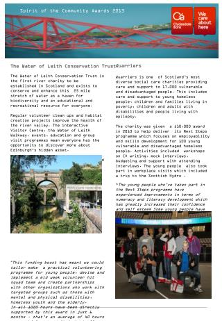 The Water of Leith Conservation Trust