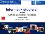 Informatik studieren  an der  Leibniz Universit t Hannover