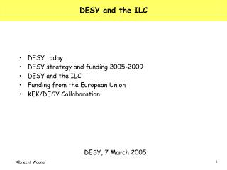 DESY and the ILC